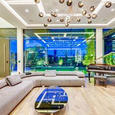 Living Room Home Theater, Beach Living Room, Living Rooms, Ceiling Design Living Room, Living Room Designs, Dream Homes, My Dream Home, Exterior Design, Interior And Exterior