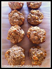 Little b's healthy habits: Clean Cinnamon Apple Protein Muffins