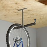 Mastercraft Overhead Storage Hanger mounts to your ceiling beams and rafters for your storage needs Features no-mar, non slip foam sleeves Shed Storage Shelves, Garage Wall Storage, Bike Storage Rack, Ceiling Storage, Garage Walls, Garage Organization, Indoor Bike Storage, Overhead Storage, Bike Hanger