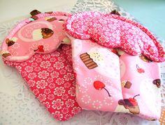 Handmade Pink Cupcake Potholder with Pink and Brown Ribbon Material. $16.00, via Etsy.