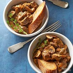 Rich and flavorful mushrooms, savory gravy, and tender steak make this dish a perfect on a Tuesday or for company./