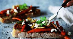 Bruschetta z pieczonymi warzywami