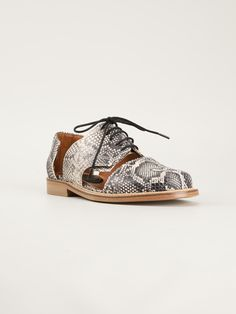 Minimarket Cutout Derby Shoes in Animal (nude & neutrals) | Lyst