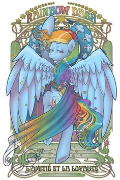 Rainbow Dash Nouveau by *hezaa on deviantART