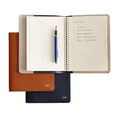 Leather Refillable Journal ($169) ❤ liked on Polyvore featuring home, home decor, stationery, fillers, books, accessories, items, extras and magazine