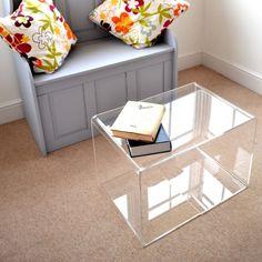 Perspex coffee table: 40cm (perspex tables & platforms)