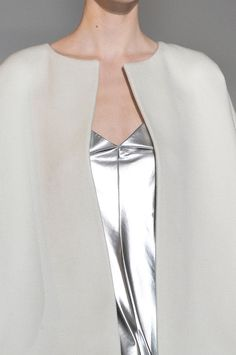 Futuristic Fashion, silver leather, wool