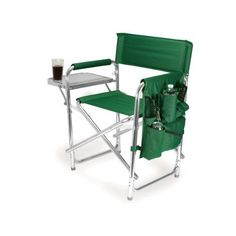 This hunter green Sports Chair by Picnic Time is the ultimate spectator chair. It's a lightweight, portable folding chair with a sturdy aluminum frame that has an adjustable shoulder strap for easy carrying. Beach Chairs, Patio Chairs, Table And Chairs, Outdoor Chairs, Picnic Chairs, Adirondack Chairs, Camp Chairs, Garden Chairs, Shopping
