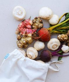 Loot Bags by The Green Collective - reusable produce and bulk wholefood bags Feel Good Food, Bulk Food, Loot Bags, Natural Skin Care, Whole Food Recipes, Stuffed Mushrooms, Vegetables, Health, Organic Cotton