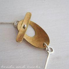 Beads and Tricks, beautiful clasp - stupenda chiusura in ottone per una collana