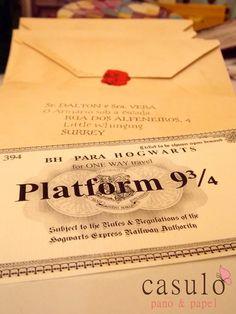 Convite de Festa de Aniversário Harry Potter