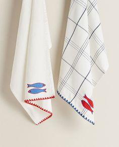 Zara Home España, Textiles, Improve Yourself, Dishcloth, Napkins, Embroidery, Cloths, Fabrics