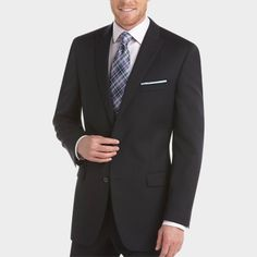 4fcc46b37ca Calvin Klein Navy Slim Fit Suit - Modern Fit (Trim)