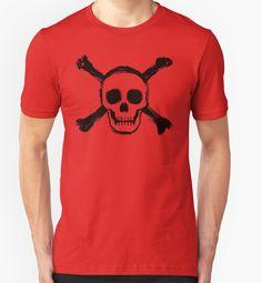 """Skull and crossbones - Black Edition"" T-Shirts & Hoodies by Lidra   Redbubble"