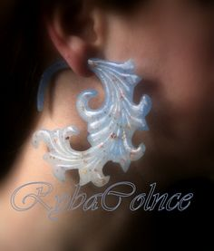 Fake ear gauge / Faux gauge/Gauge earrings / fake piercing by RybaColnce on Etsy