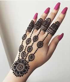 Explore latest Mehndi Designs images in 2019 on Happy Shappy. Mehendi design is also known as the heena design or henna patterns worldwide. We are here with the best mehndi designs images from worldwide. Henna Hand Designs, Eid Mehndi Designs, Mehndi Designs Finger, Mehndi Designs For Girls, Mehndi Designs For Beginners, Stylish Mehndi Designs, Mehndi Designs For Fingers, Mehndi Patterns, Mehndi Design Pictures