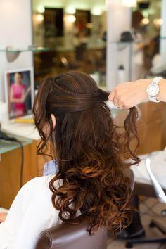 coiffure de marie cheveux semi lchs boucls - Coiffure Mariage Cheveux Mi Long Lachs