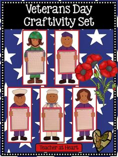 Veterans Day printable crafts for kids.
