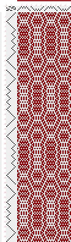 Weaving Draft Threading Draft from Divisional Profile, Tieup: Old German Pattern Book, Untitled and Unbound, Draft #11115,   Germany,   Unknown, #63345