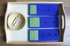 DIY Counting Boards with Sandpaper Letters