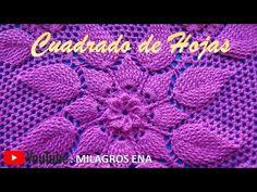 PARTE 1 Cuadrado a crochet HOJAS EN RELIEVES para colchas y cojines paso a paso en video tutorial - YouTube