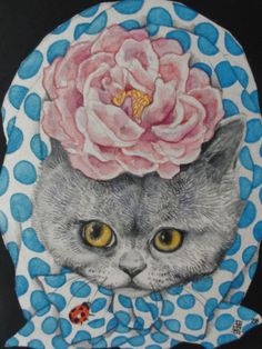 My favorite artist Illustrations, Illustration Art, C Is For Cat, Japanese Artwork, Fairytale Art, Animal Fashion, Cat Drawing, Animal Paintings, Crazy Cats