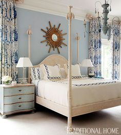 Blue and White Monday || Bedrooms