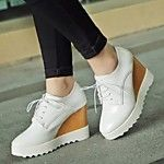 2016 New Arrivals Women's Shoes Best Seller Canvas Wedge Heel Platform/Creepers/Round Toe Fashion Sneakers Outdoor/Casual Blue/White 2016 - $21.24