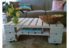 Love it!! A great idea for recycling. I may have to see what I can find for pallets. Some trimming followed by lots of sanding and a coat of white wash or milk paint thant a nifty coffee table!