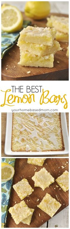 The BEST Lemon Bars Recipe - These truly are the best lemon bars - no one has disagreed with me yet!