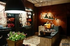 MENHARD STORE IN SIBIU BY GLAMSHOPS Café Restaurant, Restaurant Design, Sibiu Romania, Design Commercial, Leather Store, Retail Solutions, Retail Space, Outlet, Beautiful Interiors