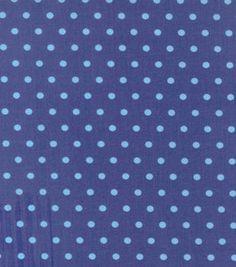 Crema de mantequilla ™ Stella Colección tela de algodón-Blue Dot