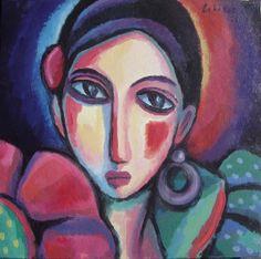 Flamenca (2008) Acrílico sobre madera, 50x50 cm Guillermo Martí Ceballos