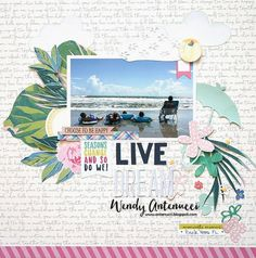 Live Dream - Crate Paper - Chasing Dreams Collection +Pebbles - TeaLightful Collection (achtergrond)