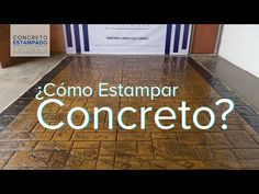 Concreto Estampado - Muestra 2 - YouTube