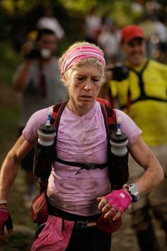 Mimi Anderson.  She's an ULTRA RUNNER.  She's British.  She trains a lot, she races all over the world.  But what stole my heart is what she does in favor of other people.   Find more about here at http://marvellousmimi.com/v2/