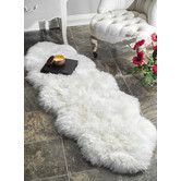 Found it at Wayfair - Sheepskin Shag Natural Area Rug