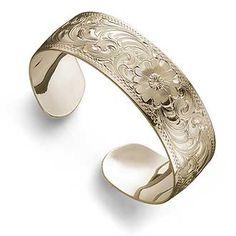 7949071601:Western Silver Cuff Bracelet