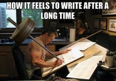 How it feels to write after a long time... #writerslife #writinglife #writing #amwriting #WritingCommunity #writers #authors Images Gif, Funny Images, Funny Pictures, Art Pictures, Humor Mexicano, Fit Couples, Funny Couples, Couples Humor, Fitness Couples