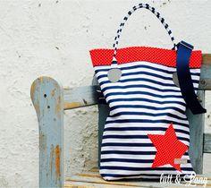 Umhängetaschen - Sommer ★ Tasche ★ Streifen ★ Maritim - ein Designerstück von luett-und-Lang bei DaWanda