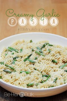 Creamy Garlic Pasta #15MinuteSuppers Recipe | Yummly
