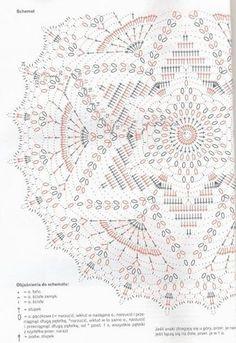 Вязаный крючком круглый коврик «Мандала». Схема