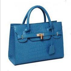 2015 New Korean Fashion Crocodile Design Women Leather Handbag Vintage Popular Shouler bag for Female Promotion 6colors LJ471