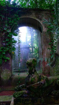 .Entrance to the garden