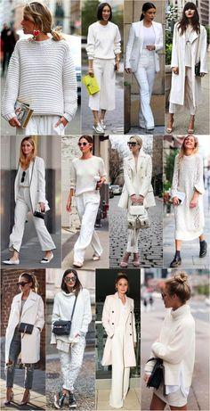 White winter: Looks brancos e similares pra incrementar seu inverno!