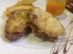 Cachopinos de calabacín rellenos de Azuki, Quinoa y microproteína, salsa de calabaza.