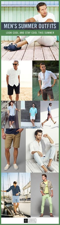 Just because the weather is starting to get warm, does not mean that you should look sloppy. Get inspired and check out our collection of men's summer outfits.