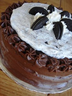 Cookies and Cream Cake - the first complicated cake I ever made for my family and still one of my favorites!