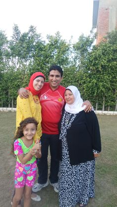 Me with my mother and wife