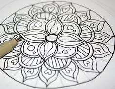 Mandalas. They look complicated but are actually rather easy to draw.